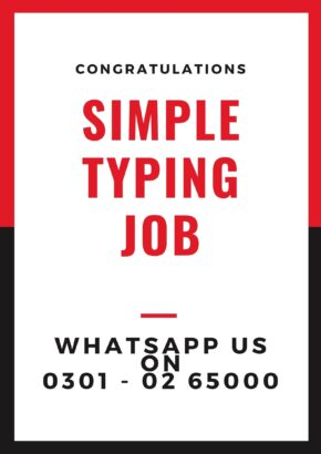 Good chance for males females online Simple typing jobs
