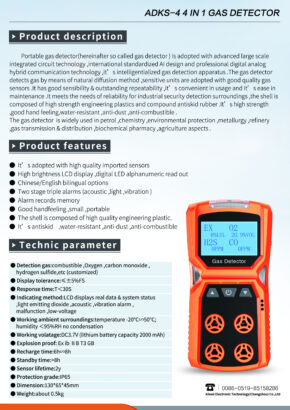 ADKS 4 in 1 Gas detector