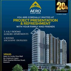 Aero Iconic Tower.3/4/5/6 Rooms Apartments on Prime Location