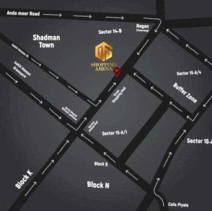 GFS Shopping Arena Karachi.Ready Shops in the heart of Karachi
