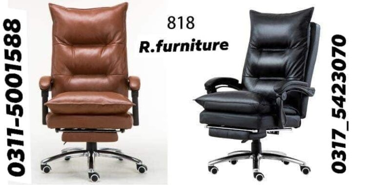 R-818 Imported double cushioned office chair