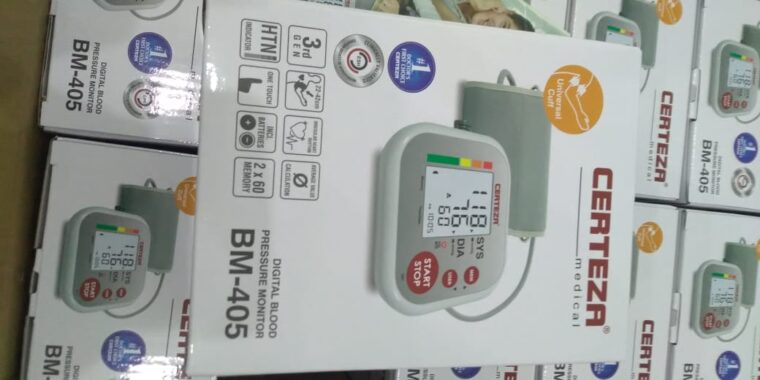 Certeza BM 405 – Digital Blood Pressure Monitor – Digital BP Apparatus