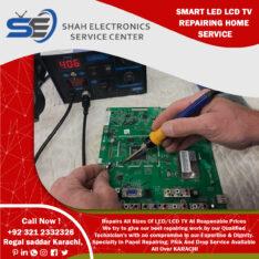 Shah Electronics Service Center led lcd tv screen repair in karachi