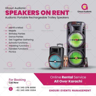 Speakers On Rent For Indoor Outdoor Events
