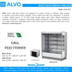 ALVO Multi Deck Chiller for Supper Store, Open Display Chiller