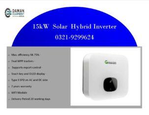 solar inverter On Grid (15KTL3 x, 3phase, 2MPPT IP65 transformer less