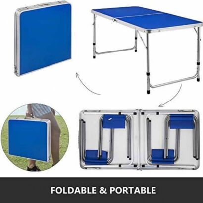 Folding Picnic Table With 4 Benches