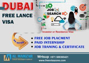 Get Dubai Freelance visa & free job assistant
