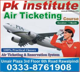 Air ticketing course in Rawalpindi Pk institute