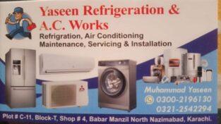 YASEEN REFRIGERATION & AC WORKS