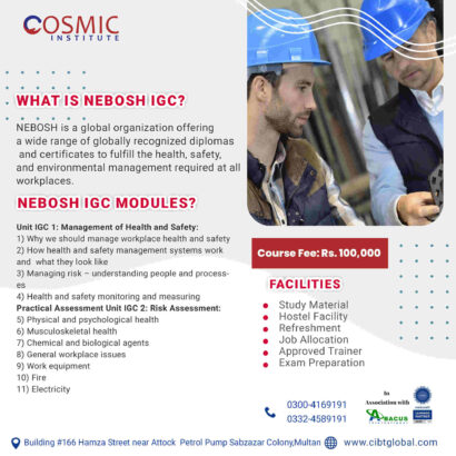 How to enroll in Nebosh Course in Pakistan?