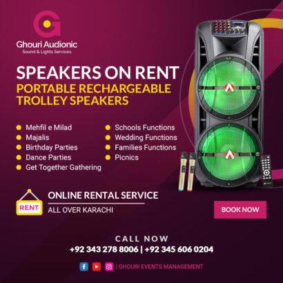 Indoor Outdoor Events.Speakers On For Rent